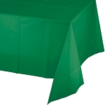 EMERALD GREEN SQUARE PLASTIC TABLE COVER