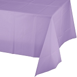 Luscious Lavender Plastic Table Cover