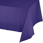 PURPLE SQUARE PLASTIC TABLE COVER