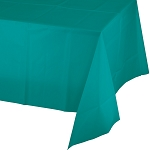 TROPICAL TEALPLASTIC TABLE COVER