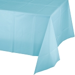 PASTEL BLUE SQUARE  PLASTIC TABLE COVER