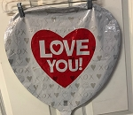 Love YOu Heart Mylar