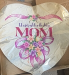 18IN HAPPY BIRTHDAY MOM HEART FOIL MYLAR