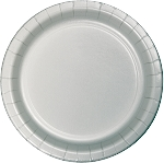 SHIMMERING SILVER LUNCH  PLATE