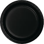 BLACK VELVET LUCHEON PLATE