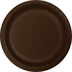 CHOCOLATE BROWN LUCHEON PLATE