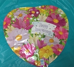 HAPPY ANNIVERSARY FLOWERS  MYLAR