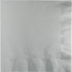 SHIMMERING SILVER LUNCH NAPKIN