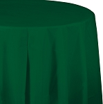 HUNTER GREEN ROUND  PLASTIC TABLE COVER