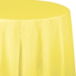 MIMOSA  ROUND PLASTIC TABLE COVER