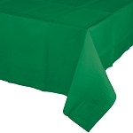 EMERALD GREEN SQUARE PLASTIC LINED TABLE COVER
