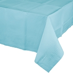 PASTEL BLUE SQUARE  PLASTIC LINED  TABLE COVER