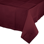 BURGANDY  PLASTIC LINED TABLE COVER
