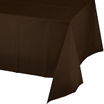 CHOCOLATE BROWN PLASTIC   TABLE COVER