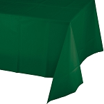 HUNTER GREEN PLASTIC TABLE COVER