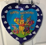 Pooh and Tiger and Piglet Happy Birthday Mylar