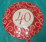 40th Number Mylar